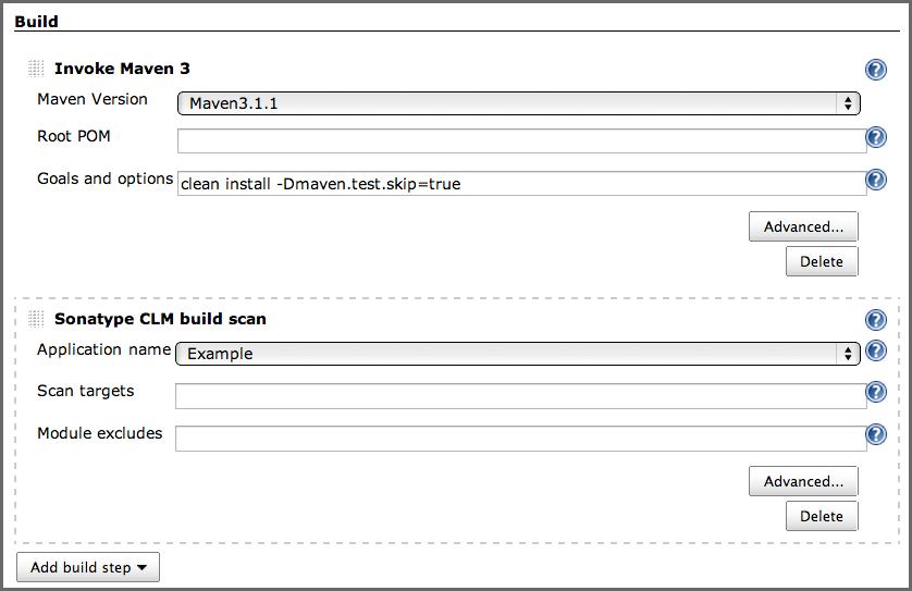 Sonatype CLM - CI User Guide - 2 4  Job Configuration